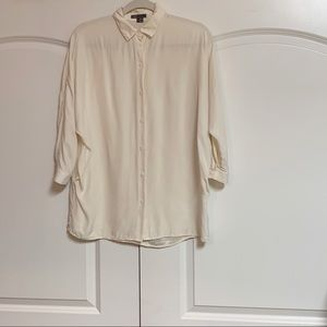 Vince Silk Dolman 3/4 Sleeve Button Up Blouse S